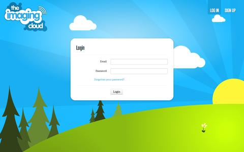 Screenshot of Login Page theimagingcloud.com - Login - The Imaging Cloud - captured Oct. 7, 2014