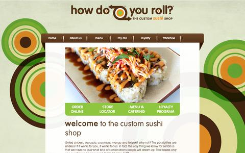 Screenshot of Home Page howdoyouroll.com - How Do You Roll - captured July 11, 2014