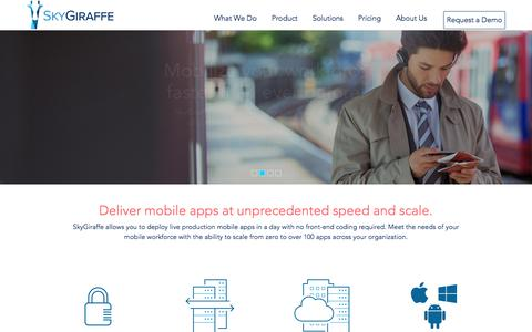 SkyGiraffe | Mobilize your workforce faster than ever before.