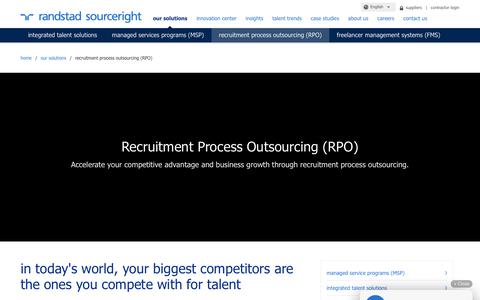 Global Recruitment Process Outsourcing (RPO) Solutions | Randstad Sourceright