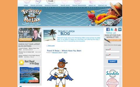 Screenshot of Blog travelnrelax.com - Travel N Relax Blog | Useful Travel Tips and Information - captured Sept. 23, 2014