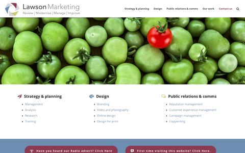 Screenshot of Home Page lawsonmarketing.co.uk - Lawson Marketing | Freelance Cambridge Marketing Support - captured Jan. 26, 2016