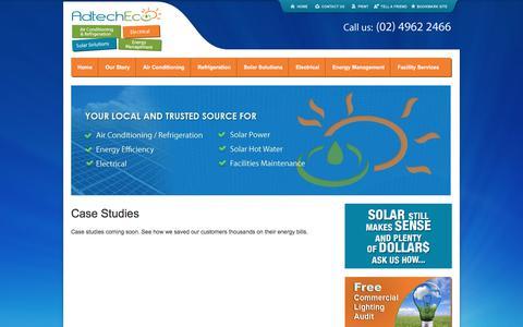 Screenshot of Case Studies Page adtecheco.com.au - Case Studies | AdTechEco - captured July 29, 2018