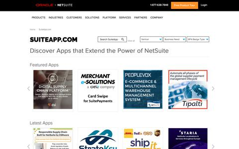 SuiteApp.com - Extend NetSuite for your industry and business needs