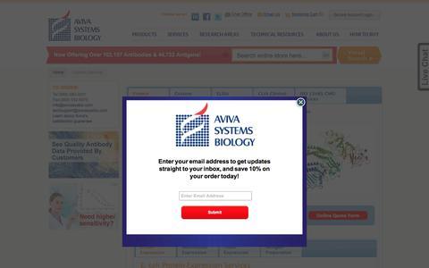 Screenshot of Services Page avivasysbio.com - Custom Services - captured Oct. 9, 2017