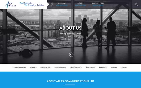 Screenshot of About Page atlas-comms.com - About Us - Atlas Communications Ltd - captured Oct. 4, 2018