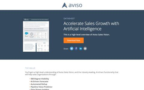 Accelerate Sales Growth with Artificial Intelligence | Aviso