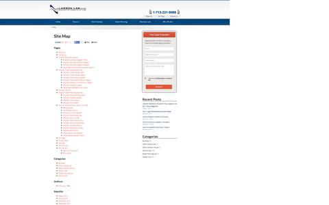 Screenshot of Site Map Page thelarsonlawoffice.com - Site Map - Houston Divorce Lawyers - captured Oct. 6, 2014