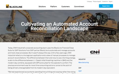Screenshot of Case Studies Page blackline.com - CNH Industrial Incorporates BlackLine Financial Close Suite for SAP - captured Nov. 29, 2019