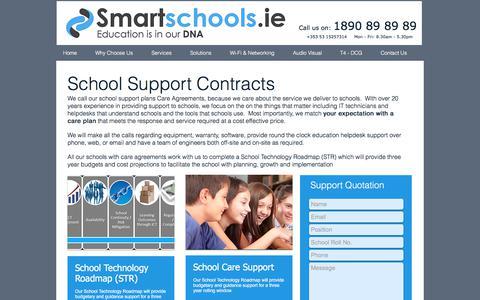 Screenshot of Services Page smartschools.ie - School IT Support Contracts - captured June 14, 2017