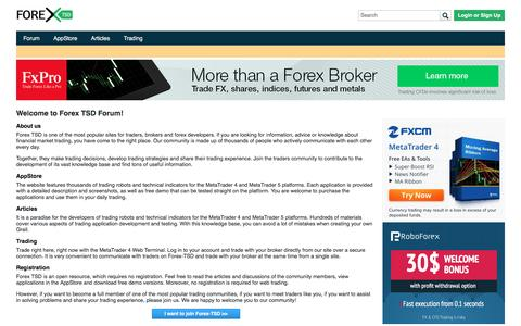 Welcome to Forex TSD Forum!