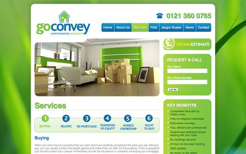 Screenshot of Services Page goconvey.co.uk - Services « GoConvey GoConvey - captured Sept. 30, 2014