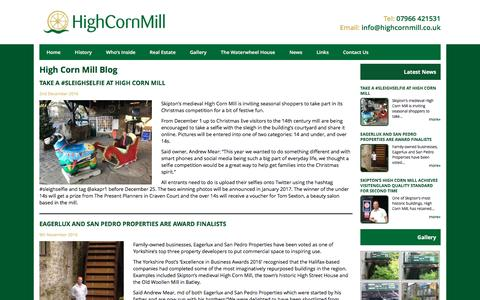 Screenshot of Press Page highcornmill.co.uk - Latest News Archives - High Corn Mill - captured May 19, 2017