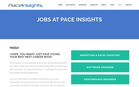 Screenshot of Jobs Page paceinsights.com - Pace Insights |   Jobs at Pace Insights - captured May 13, 2017