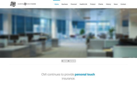 Screenshot of Home Page thinkcmi.com - Insurance Agency in San Diego | Best Insurance Quotes - captured Jan. 23, 2016