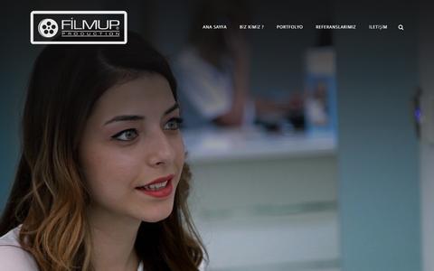 Screenshot of Home Page filmup.com.tr - Ana Sayfa - Filmup Video Prodüksiyon,Tanıtım Filmi,İş Güvenliği Filmi,3d Animasyon Reklam - captured Feb. 10, 2016
