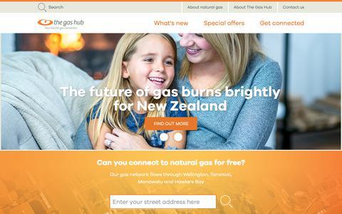 Screenshot of Home Page thegashub.co.nz - The Gas Hub - captured Oct. 20, 2018
