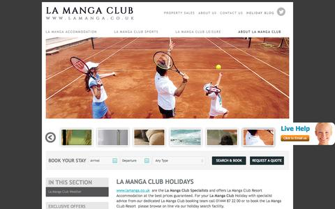 Screenshot of About Page lamanga.co.uk - La Manga Club Resort Holidays | La Manga Club Resort | La Manga Club - captured March 5, 2016
