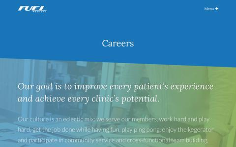 Careers | Fuel Medical Group LLC
