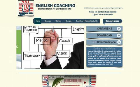 Screenshot of Home Page inglesparanegocios.net - Ingles para Negocios   Business English Coaching - captured Oct. 1, 2018