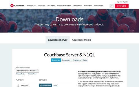 NoSQL Downloads | Couchbase