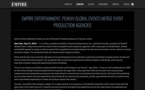 Screenshot of Press Page empireentertainment.com - empire - captured July 20, 2019