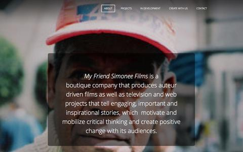 Screenshot of About Page myfriendsimonee.com - About - My Friend Simonee Films Inc - captured Oct. 26, 2014