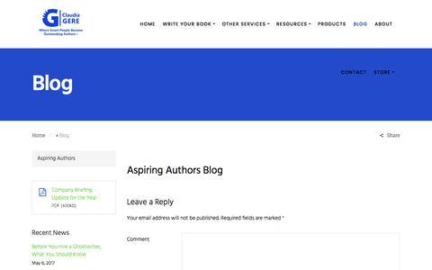 Screenshot of Blog claudiagereco.com - Blog - Claudia Gere & Co - captured Aug. 1, 2017