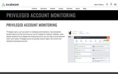 Privileged Account Monitoring | Exabeam