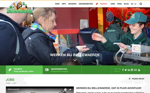 Screenshot of Jobs Page bellewaerde.be - Jobs | Bellewaerde - captured July 13, 2018