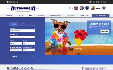 Screenshot of Home Page automurgia.com - Automurgia - Fiat Lancia Alfa Romeo Abarth Jeep - captured July 27, 2016