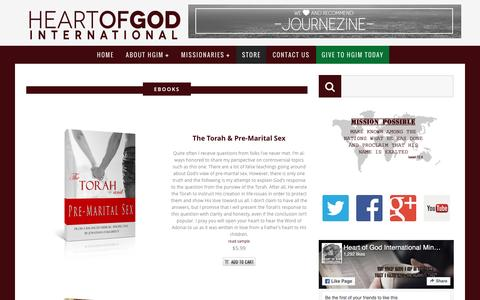 Screenshot of Products Page heartofgodinternational.org - » Products - captured Nov. 6, 2016