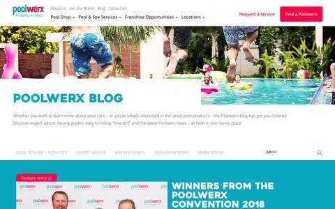 Screenshot of Blog poolwerx.com.au - Poolwerx Blog - Poolwerx Australia - captured Sept. 28, 2018