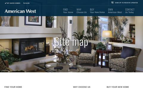 Screenshot of Site Map Page americanwesthomes.com - NEW REAL ESTATE IN LAS VEGAS, NV FOR SALE   SITE MAP - captured Oct. 21, 2018