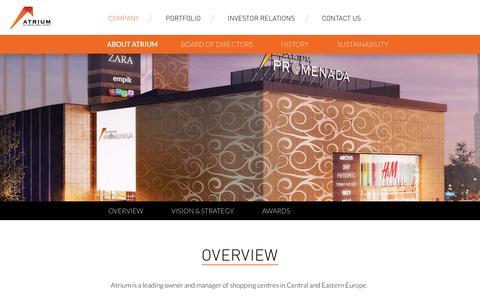 Screenshot of About Page aere.com - Atrium European Real Estate - captured Sept. 22, 2018