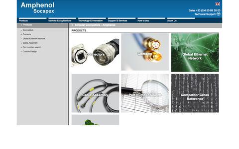 Screenshot of Products Page amphenol-socapex.com - Circular Connectors - Amphenol - captured Oct. 29, 2014