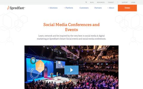 Screenshot of spredfast.com - Spredfast Conferences and Events | Spredfast - captured Jan. 15, 2018