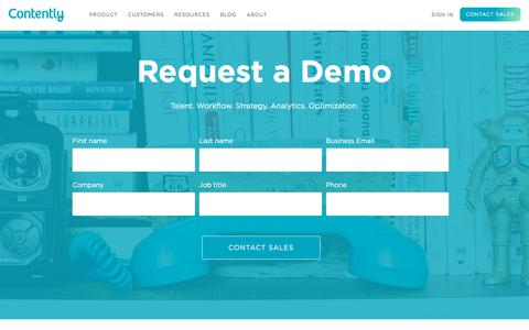 Request a Demo - Contently
