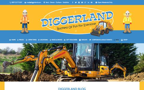Screenshot of Blog Press Page diggerland.com - Blog - Diggerland UK Theme Park - captured Oct. 9, 2018