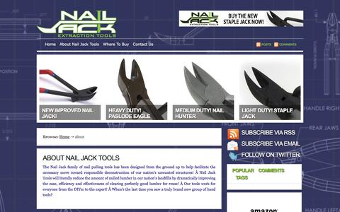 Screenshot of About Page nailjack.com - About Nail Jack Tools «  Nail Jack - captured Oct. 18, 2017