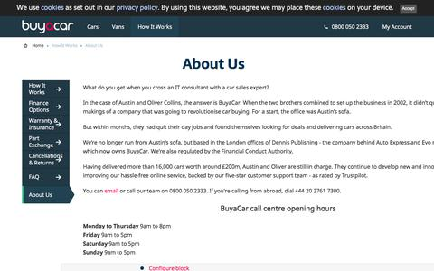 Screenshot of About Page buyacar.co.uk - About Us   BuyaCar - captured June 11, 2018