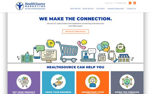 Screenshot of Home Page healthsourcemarketing.com - Sales Representation & Marketing Experience in the OTC Consumer Health Industry | HealthSource Marketing - captured Nov. 4, 2018