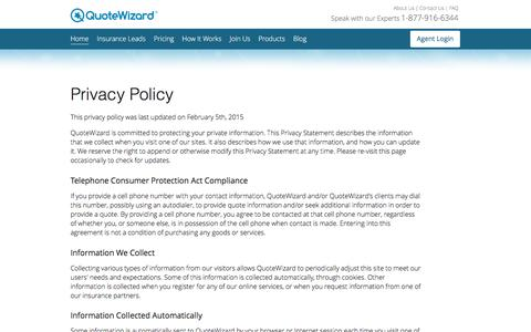 Privacy Policy | QuoteWizard