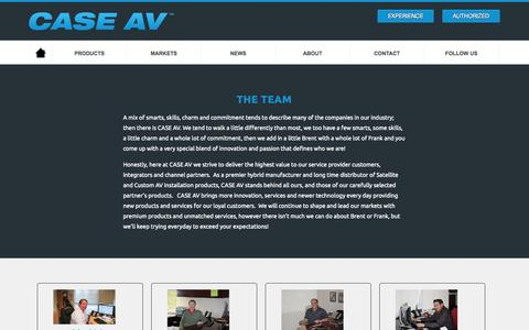 Screenshot of Team Page caseav.com - CASE AV |  Team - captured Oct. 8, 2014