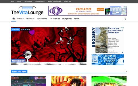 Screenshot of Home Page thevitalounge.net - The Vita Lounge - captured Sept. 23, 2014