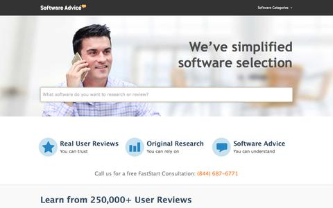 Business Software Reviews from Software Advice™