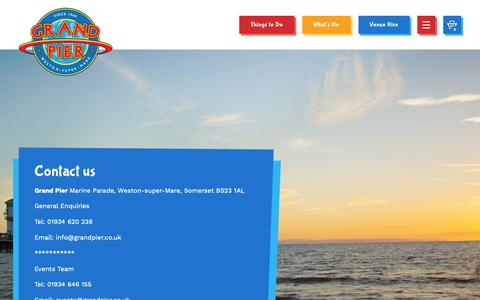 Screenshot of Contact Page grandpier.co.uk - Contact us | The Grand Pier - captured Sept. 29, 2018