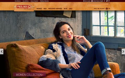 Screenshot of Home Page pikolinos.com - Official Pikolinos online store: shoes and boots for men and women - captured Sept. 23, 2014
