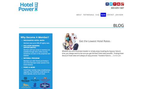 Screenshot of Blog hotelpower.com - Blog | Hotelpower.com - captured Sept. 30, 2014