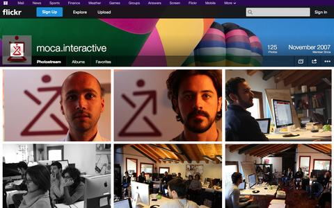 Screenshot of Flickr Page flickr.com - Flickr: moca.interactive's Photostream - captured Oct. 23, 2014